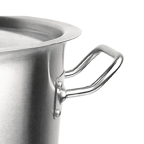 Soga Silver Stainless Steel Stock Pot with Lid