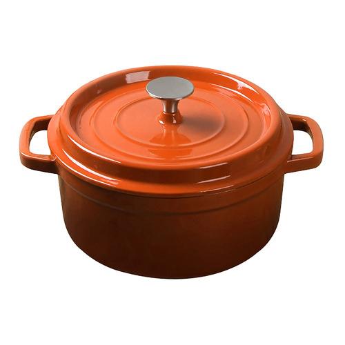 Soga Orange Cast Iron Casserole Dishes