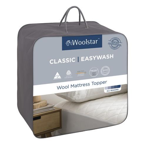 Woolstar Easywash Japara Cotton & Wool Topper
