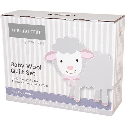 Merino Mini Cot Wool Quilt Set