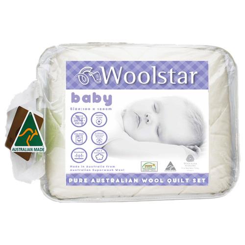 2 Piece Woolstar Baby All Seasons Wool Quilt Set
