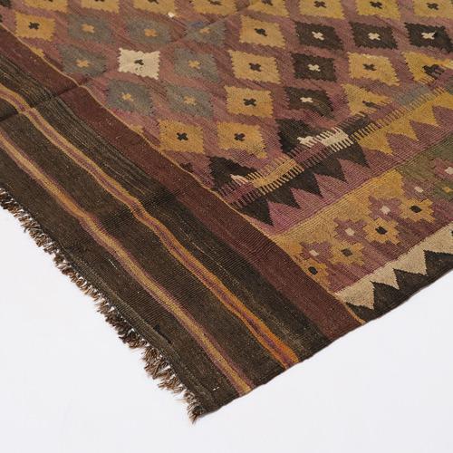 Persian Rug Co Mousa Hand-Woven Reversible Wool Kilim Rug