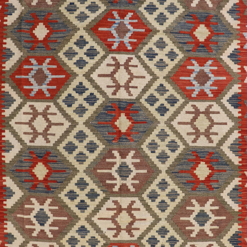 Persian Rug Co Farouk Hand-Woven Reversible Wool Kilim Rug