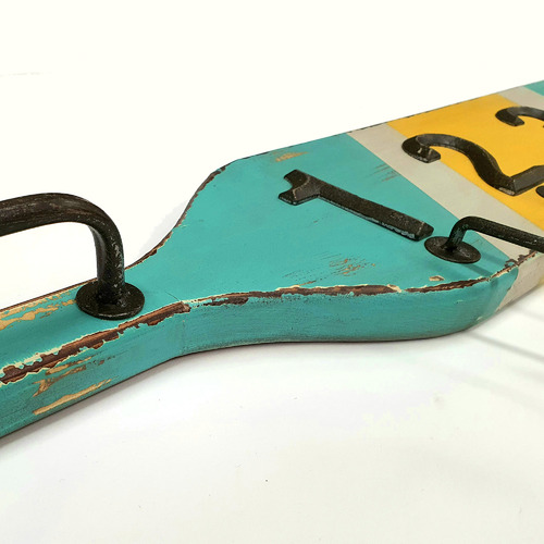 Boat Paddle Coat Hooks with Rail
