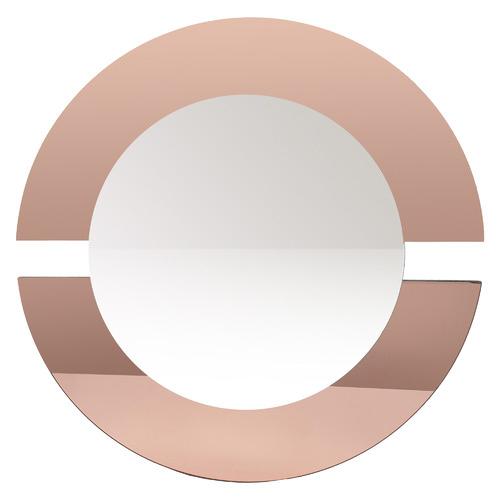 K's Homewares & Decor Rose Gold Round Wall Mirror