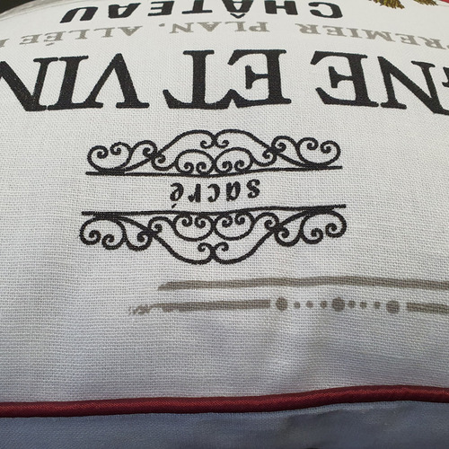 K's Homewares & Decor French Country Cotton Canvas Cushion