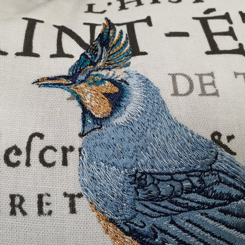 French Country Bird Cotton Cushion