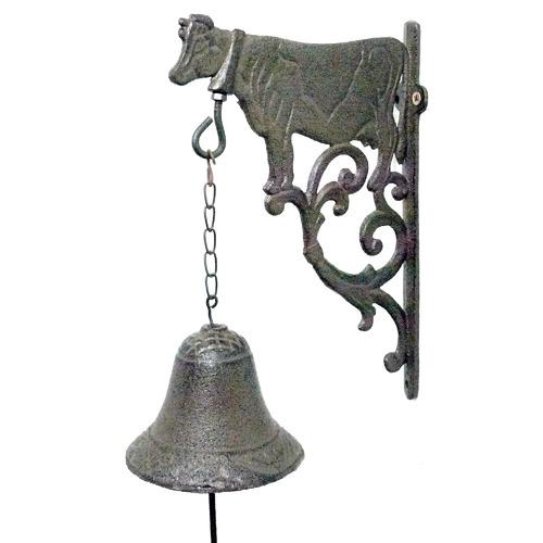 K's Homewares & Decor Cow Iron Doorbell