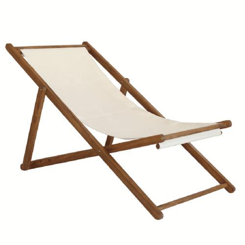 Q Furniture Natural Acacia Wood Beach Chair