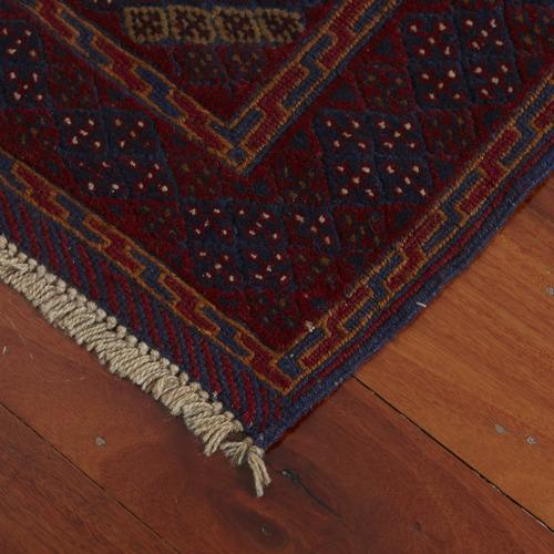 Afgapersia Vintage Bina Mushwani Hand-Knotted Wool Runner