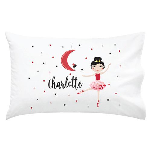 Happy Joy Décor Kids' Christmas Dancer Personalised Cotton Pillowcase