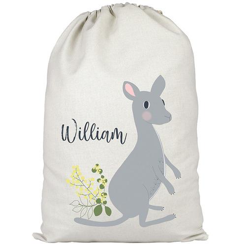 Kangaroo Personalised Cotton Toy Storage Bag