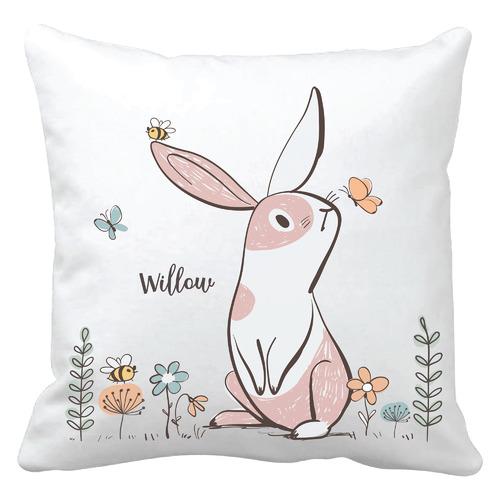 Girls Bunny Personalised Cushion