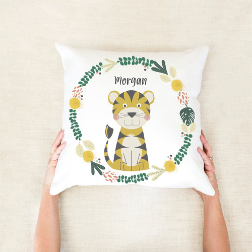 Tiger Personalised Cotton Cushion