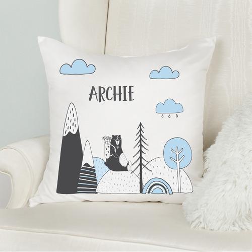Explorer Bear Personalised Cotton Cushion