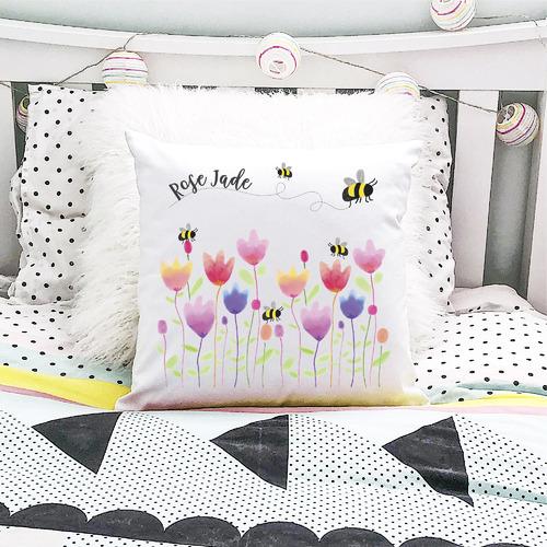 Sprint Tulip Personalised Cotton Cushion