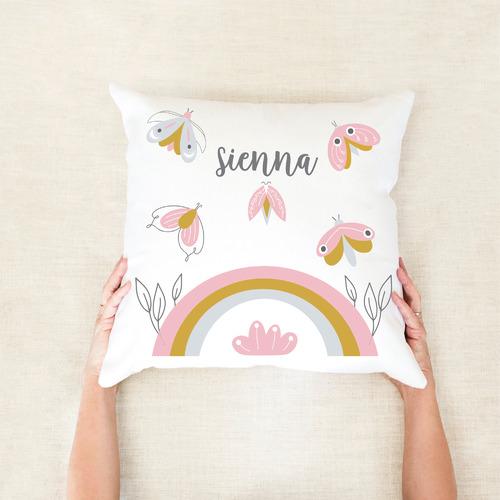 Moth Personalised Cotton Cushion