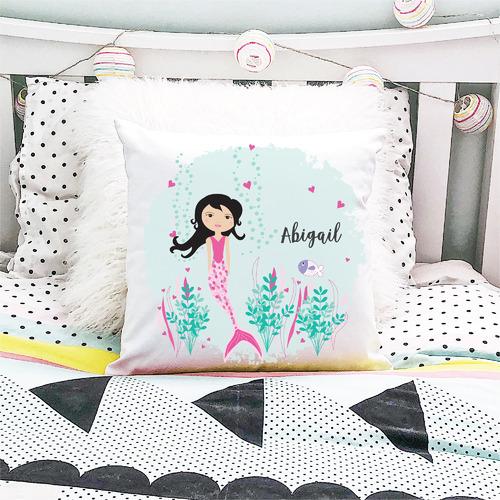 Mermaid Personalised Cotton Cushion