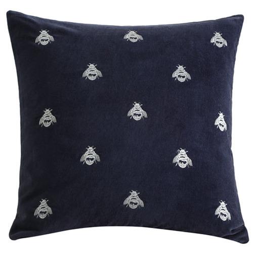 Buzz Square Cotton Velvet Cushion