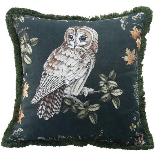 MM Linen Owlbert Cotton-Blend Cushion