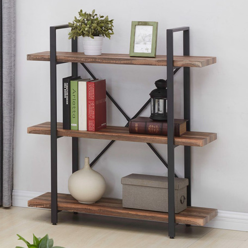 Neville 3 Tier Industrial Bookshelf