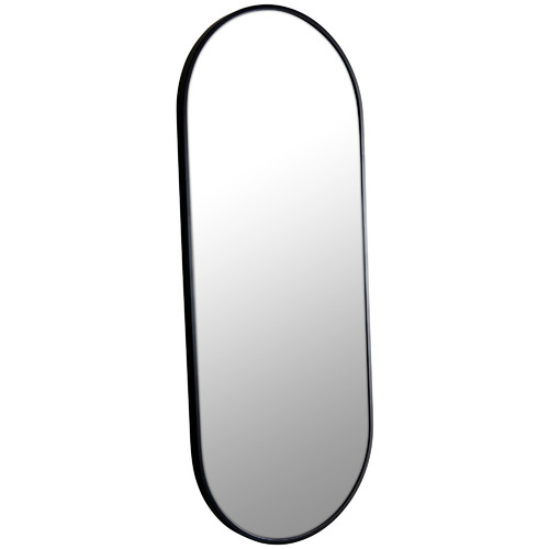 100 x 40cm Pill Shaped Stainless Steel Wall Mirror