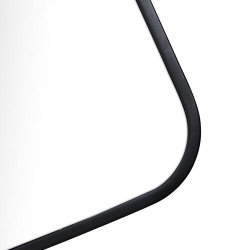 Future Glass Black Radius Corner Stainless Steel Wall Mirror