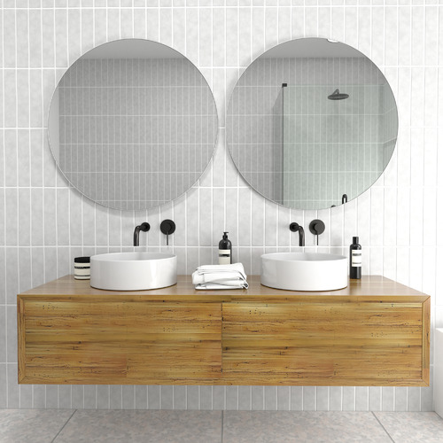 80cm Round Stainless Steel Wall Mirror