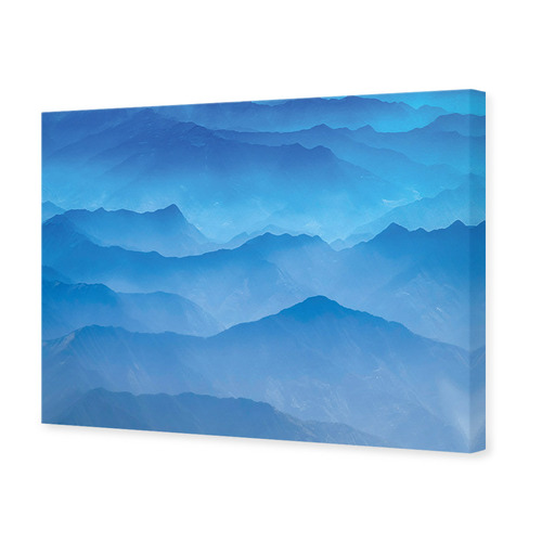 Misty Layers Canvas Wall Art