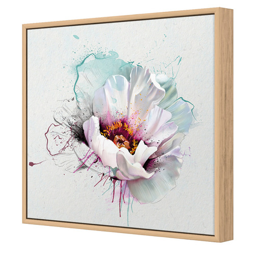 Explosion of White Canvas Wall Art