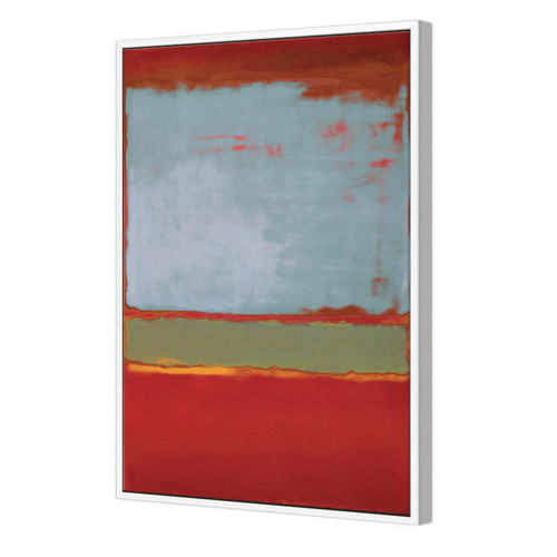 Designer ArtHouse Colour Fields II Violet, Green & Red Canvas Wall Art