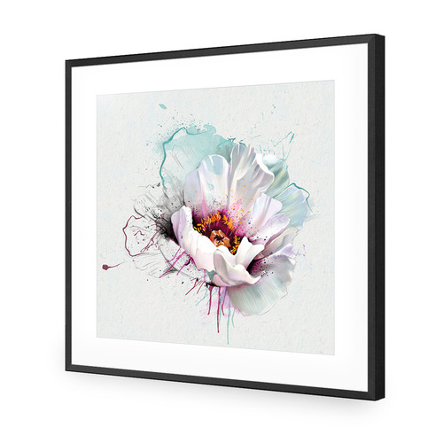 Explosion of White Acrylic Wall Art