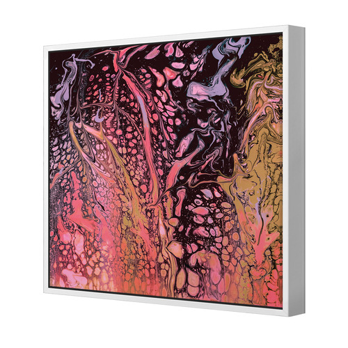 December Nights Square Canvas Wall Art