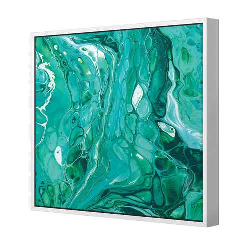 Life Is A Mystery Emerald Square Canvas Wall Art
