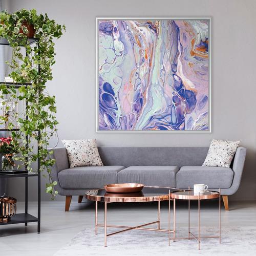 Trepidation Of Love Square Canvas Wall Art