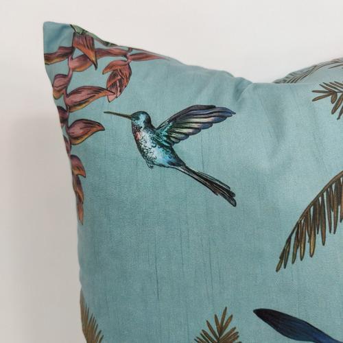 Hummingbird RocoColonial Velvet Cushion