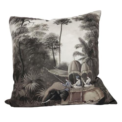 The Raj RocoColonial Square Velvet Cushion