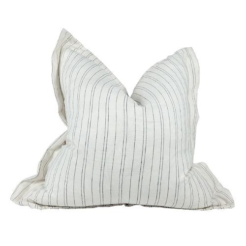 Stripe Agen Pure French Linen Cushion