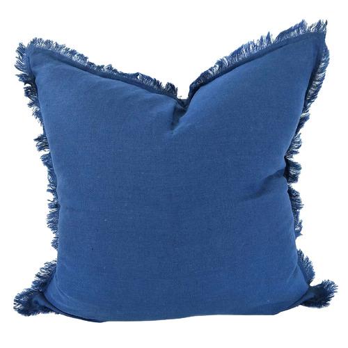 Hazelhurst Fringed French Linen Cushion