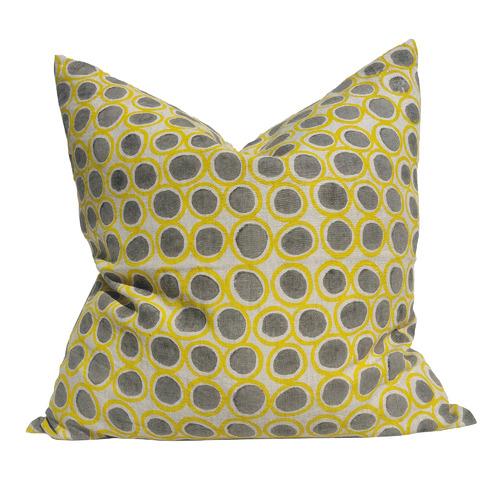 Artisan Block Printed Wishing Well French Linen Cushion