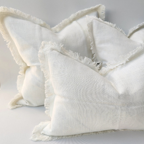 Riviera Heavy Weight Texture French Linen Cushion