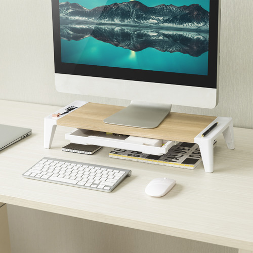 ErgoLife Monitor Stand Riser with Drawer