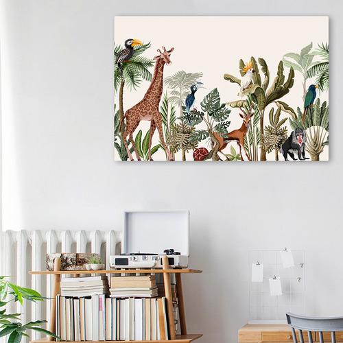 Gioia Wall Art Palm, Banana & Jungle Animals Canvas Wall Art