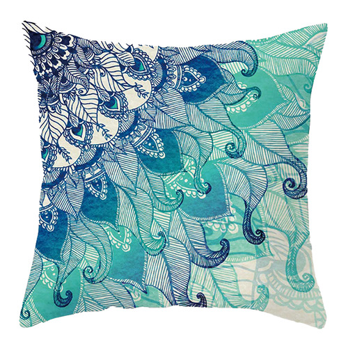 Aqua Turquoise Microfibre Cushion Cover