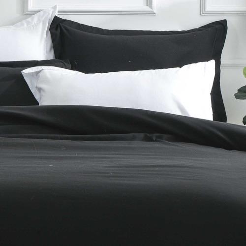 Black Samia Quilt Cover Set
