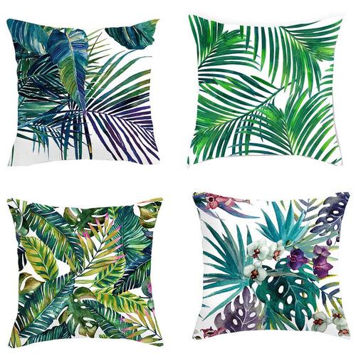 4 Piece Tropical Cushion Cover Set