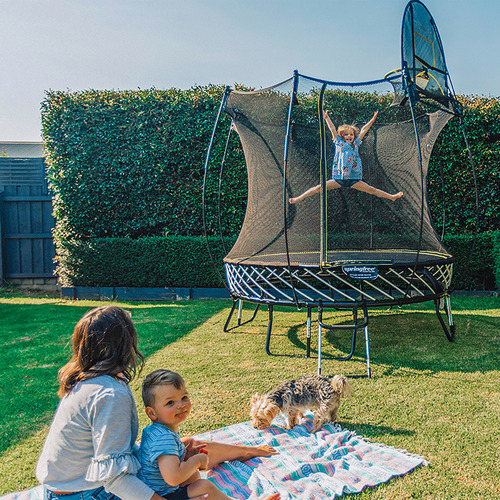 11ft Round Springfree® Compact Trampoline