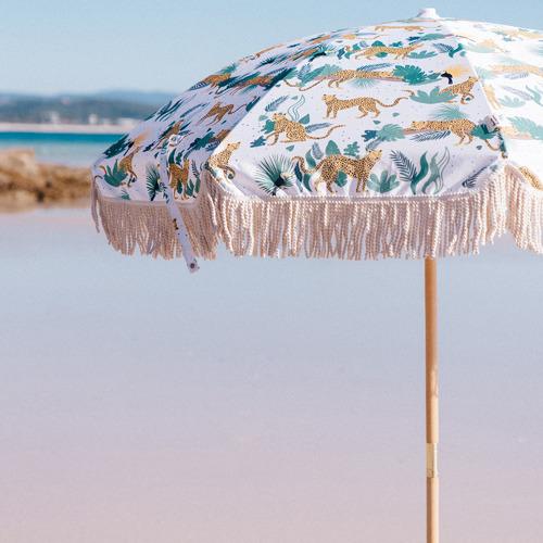 Bamboo Bungalow Swinging Safari Beach Umbrella