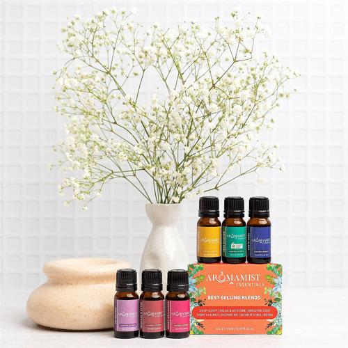 6 Piece 10ml Aromamist Best Selling Blends Essential Oil Set