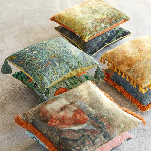 Van Gogh Ears of Wheat Cotton Cushion